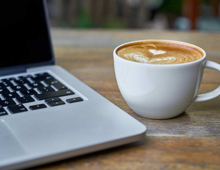 picture of laptop and coffee